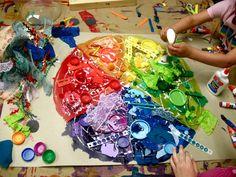 color wheel collage