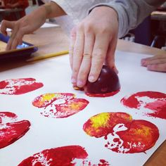 Printing with apples (Cezanne?)