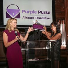 Kerry Washington has designed a limited edition handbag to raise funds for the Allstate Foundation's Purple Purse campaign!