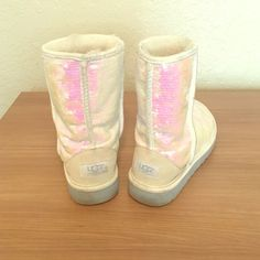Women's Size 7 uggs Very comfy, stylish and sparkly. Only worn a few times. UGG Shoes Winter & Rain Boots