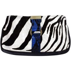 Pre-owned Fur clutch with zebra pattern ($410) ❤ liked on Polyvore featuring bags, handbags, clutches, multicoloured, zebra purse, preowned handbags, jimmy choo purses, fur purse and jimmy choo clutches