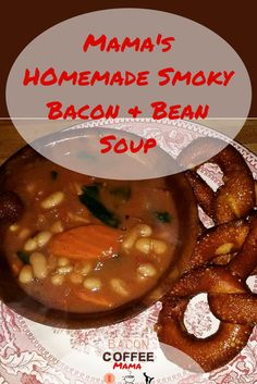 One of my favorite ways to warm up is a hot bowl of homemade soup. Rich, hearty, tasty, smokey, & filling. Bacon and Bean combine to create soup perfection.