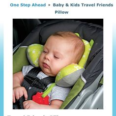 Baby travel pillow.  For the savvy Baby Hooks.