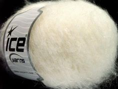 Genius Mohair White Ice Yarns 53902 Yarns, Ice, Art Yarn, Ice Cream, Cable Knitting