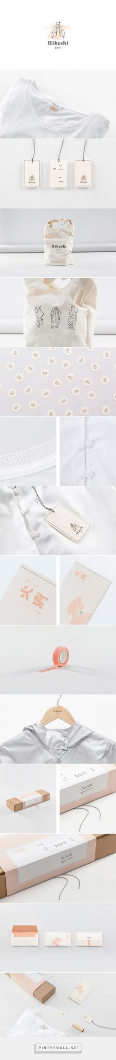 Hikeshi clothing packaging designed by Futura​ - http://www.packagingoftheworld.com/2015/08/hikeshi.html