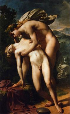 The death of Hyacinthus – by Merry-Joseph Blondel (1781-1853) – c.1830.
