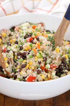 Black Bean Quinoa Salad via @spendpennies