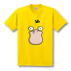 0c0e9de22 Pokemon Psyduck T-shirt This yellow Pokemon shirt features a large print of  Psyduck's quizzical