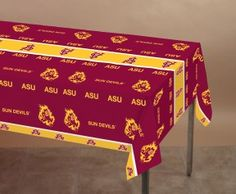 """Arizona State Tablecover, Plastic 54"""" x 108"""" - 12 per case  Product # :724089  $30.88"""