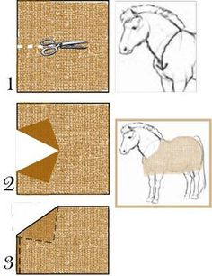 Make a blanket for your horse yourself / Horse tips / xT …, … – Art Of Equitation Toy Horse Stable, Schleich Horses Stable, Horse Stalls, Breyer Horses, Horse Costumes, Horse Accessories, Horse Crafts, Hobby Horse, Horse Care