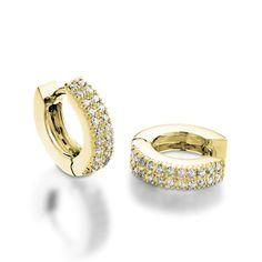 Small Diamond Hoops. Diamond Hoop Earrings. Small Hoop by Juttou