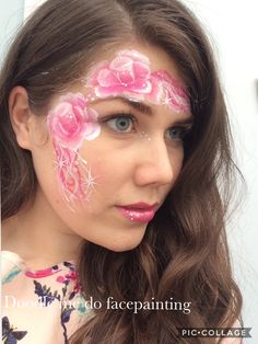 Roses by doodle me do face painting