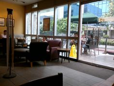 """See 230 photos and 10 tips from 2007 visitors to Starbucks. """"Warm Cafe Mocha with Hazelnut and Soymilk is 💕"""" Makati City, Starbucks Coffee, Windows, Starbox Coffee, Ramen, Window"""