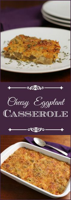 Easy Cheesy Eggplant Casserole combines comfort food with adding veggies to your family's diet (yum food casserole recipes) Side Dish Recipes, Vegetable Recipes, Vegetarian Recipes, Dinner Recipes, Cooking Recipes, Healthy Recipes, Side Dishes, What's Cooking, Dinner Ideas
