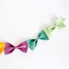 Felt bow tutorial. How cute would this be over the window??