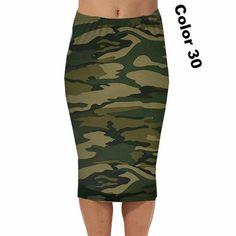 2017 Spring Summer Vintage Fashion Printed Pencil Skirt Midi Women  Knee-Length Elastic High Waist Ladies Pattern Skirts e9ffa74880c7