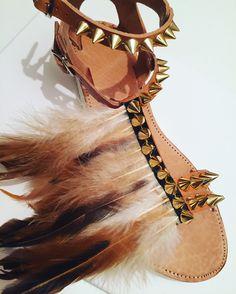 Handmade leather sandals by Bliss Follow us on Facebook  Bliss_Greek Designer