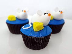 Ratones con queso Cupcakes