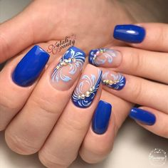 50 Winter Nail Art Designs 2019 These trendy Nails ideas would gain you amazing compliments. Check out our gallery for more ideas these are trendy this year. Blue Nail Designs, Simple Nail Art Designs, Best Nail Art Designs, Easy Nail Art, Cool Nail Art, Winter Nail Art, Winter Nails, Blue Nails, My Nails
