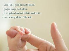 Die schönsten Sprüche zur Geburt: Zwei winzig kleine Füße