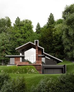 The first sketches of a private house in Sochi. Russia by Rate this one from 1 to 10 Small House Architecture, Architecture Design, Amazing Architecture, Design Exterior, Roof Design, Dream Home Design, Modern House Design, Building Design, Building A House