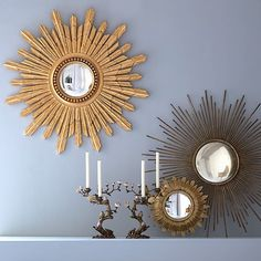 mirror mirror on the wall......starburst mirror inspiration! click for more :)