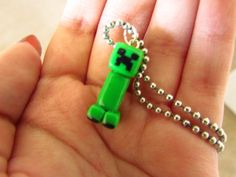 Minecraft Creeper Necklace. $8.00, via Etsy.  @Seth Mitchell I can make this!