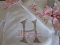 Personalized Coming Home Oufit, Home From Hospital Outfit, Layette Gown and Hat Set, Girls Take Home Outfit, Newborn Gown, Monogrammed on Etsy, $35.00