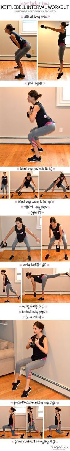 Lower-Body & Back Kettlebell Interval Workout | Posted By: CustomWeightLossProgram.com