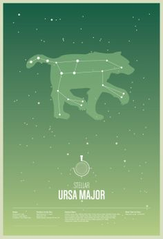 Ursa Major, would make a cute sibling tattoo if the older sibling got major and younger sibling got minor.