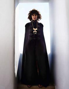 Mica Arganaraz by Mario Testino for Vogue Paris November 2015 - Valentino Fall 2015 Haute Couture