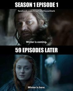 Well they always did say that the Starks were right eventually...