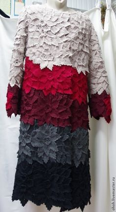 This Pin was discovered by Yan Gilet Crochet, Crochet Coat, Freeform Crochet, Knitted Poncho, Crochet Cardigan, Irish Crochet, Crochet Shawl, Crochet Clothes, Crochet Lace