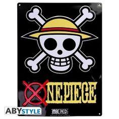 PLACA DE METAL ONE PIECE SKULL 28X38, el mejor precio, Creado un nuevo producto para usted: placas de metal One Piece para decorar su pared. Esta placa de metal representa el emblema de sombrero de p...