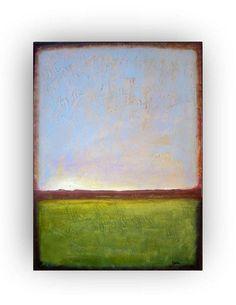 Arizona Muontains   original abstract painting by VESNAsART, $185.00