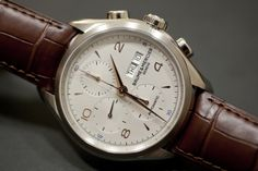 Baume & Mercier Clifton Chronograph, also available w/ a steel bracelet for only a $100 upcharge