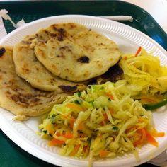 Honduran pupusas! YUM! My number one fave Honduran food! (Although it's actually considered an El Salvadorian dish ) :-)