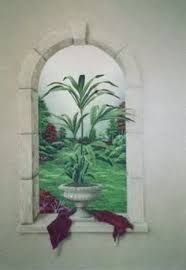 Image result for trompe l'oeil looking out at sea