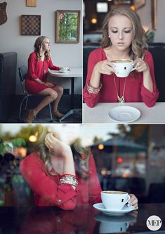 Senior picture photographer in cafe - coffee shop - fashion 9