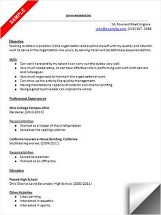 high school students resume sample. Resume Example. Resume CV Cover Letter