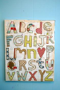 Ideas para decorar la habitación infantil, con letras