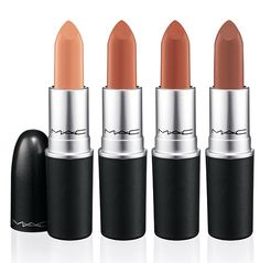 Nude colos of MAC Nudes & Metallics Collection (PRO Only) for Spring/Summer 2013 - Angel's Kiss(Sheer soft pinky nude with pearl), Nearly Nude(Sheer warm pink nude), Wholesome(Sheer warm mid-tone nude), Restrained(Sheer neutral mid-tone nude)