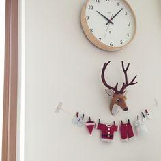 ROOMSさんの、On Walls,ハンドメイド,クリスマス,シンプル,FlyingTiger,サンタも準備についての部屋写真