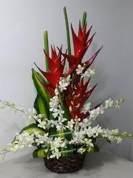 tropical flowers arrangement ideas
