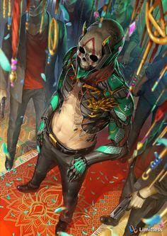 lotus clan artwork for limitless CG Sci Fi Kunst, Cyberpunk Kunst, Cyberpunk Rpg, Character Concept, Character Art, Concept Art, Dark Fantasy, Fantasy Art, Wallpaper Animes