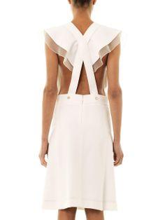 Cross-over back crepe dress | Chloé