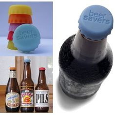 Beer Savers!  Silicone Rubber Bottle Caps designed to keep beer fresh and safe.
