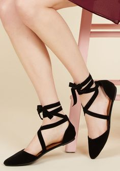 If I d'Orsay So Myself Flat. Pointed toes and chic ankle laces arent the only…