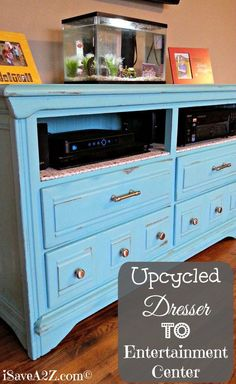 Upcycled Dresser to Entertainment Center!