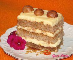".: Prajitura ""Petre Roman"" Romanian Desserts, Romanian Food, Romanian Recipes, Nutella, Caramel, Cheesecake, Food Porn, Dessert Recipes, Food And Drink"